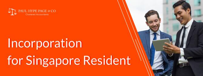Singapore Resident Incorporation