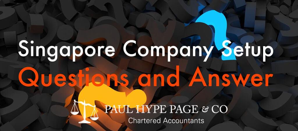 FAQ of Singapore Company