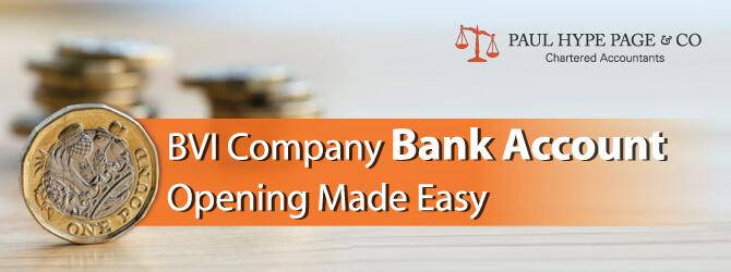 BVI Company Bank Account