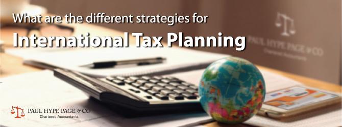 Strategies for International Tax Planning