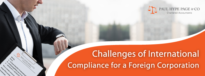 International Compliance for a Foreign Corporation