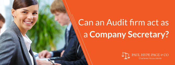 Audit firm act as a Company Secretary