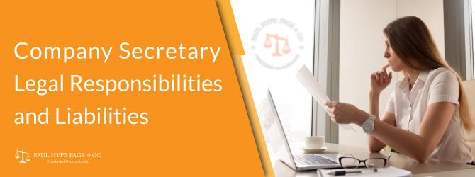 Legal Responsibilities and Liabilities of Company Secretary