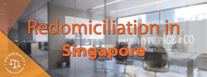 Redomiciliation in SG