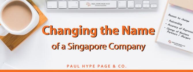 Changing Singaporean Company's Name